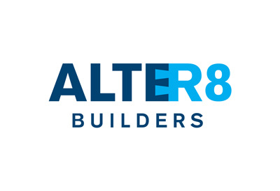 Logo for building company Alter8