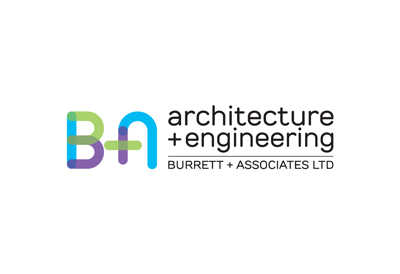Logo for Burrett & Associates architectural engineering firm