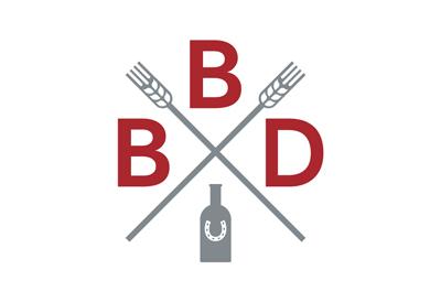 Logo for liquor distillery Bains Brothers Distillery