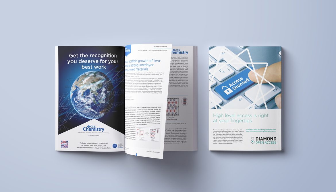 Print and digital ads for Chinese Chemical Society