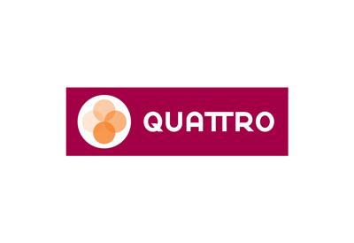 Logo design for Quattro pizza restaurant
