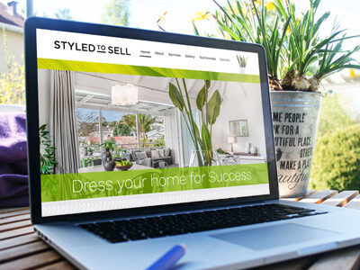 website design for real estate staging company Styled to Sell