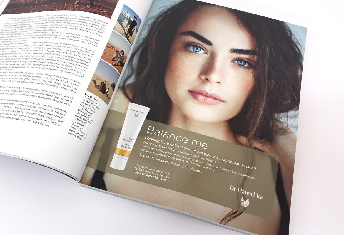 Print advertisement for Dr Hauschka skincare product