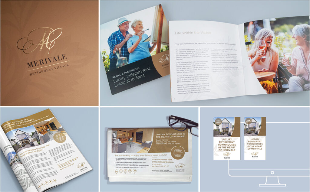 Merivale Retirement Village marketing collateral
