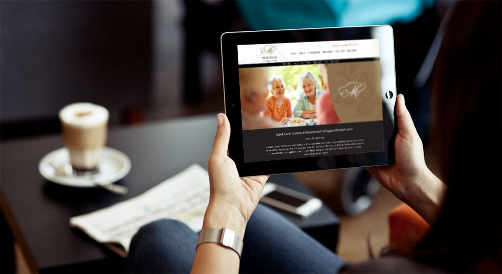 Merivale Retirement Village website design