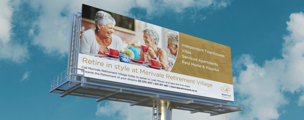 Merivale Retirement Village, Christchurch billboard